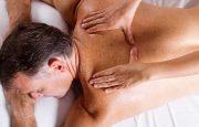 A man is receiving a massage