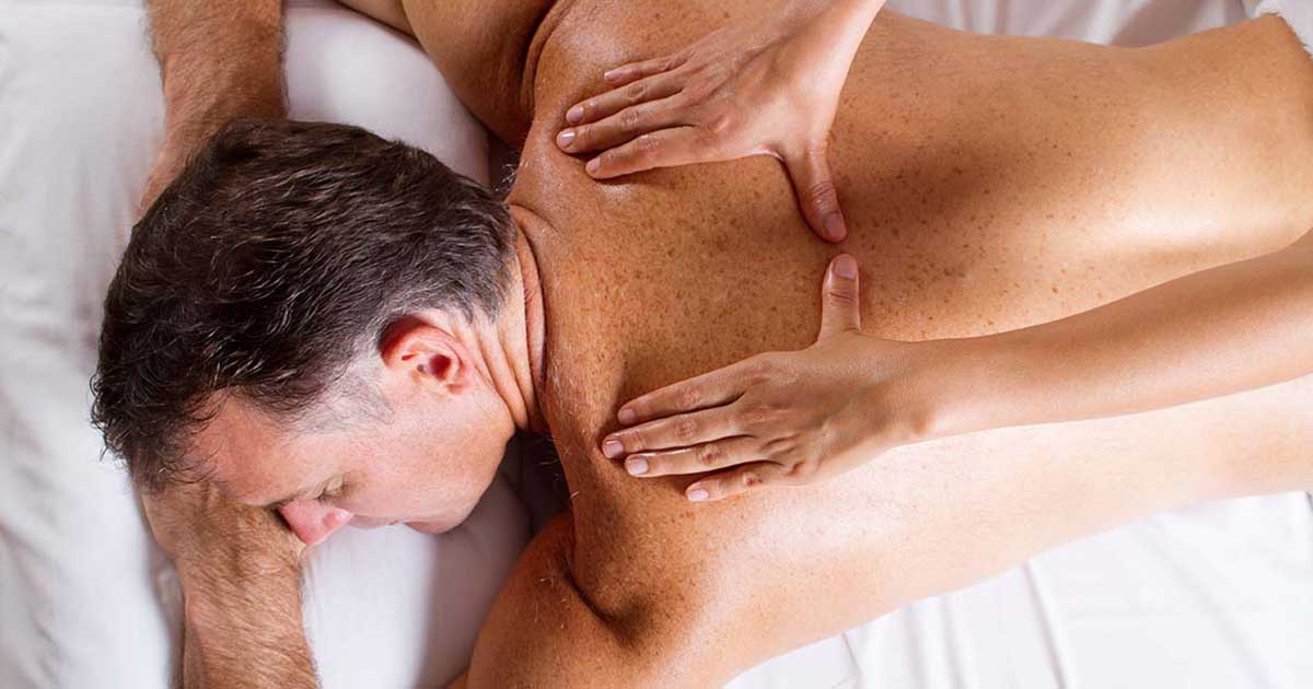 A man is receiving a massage