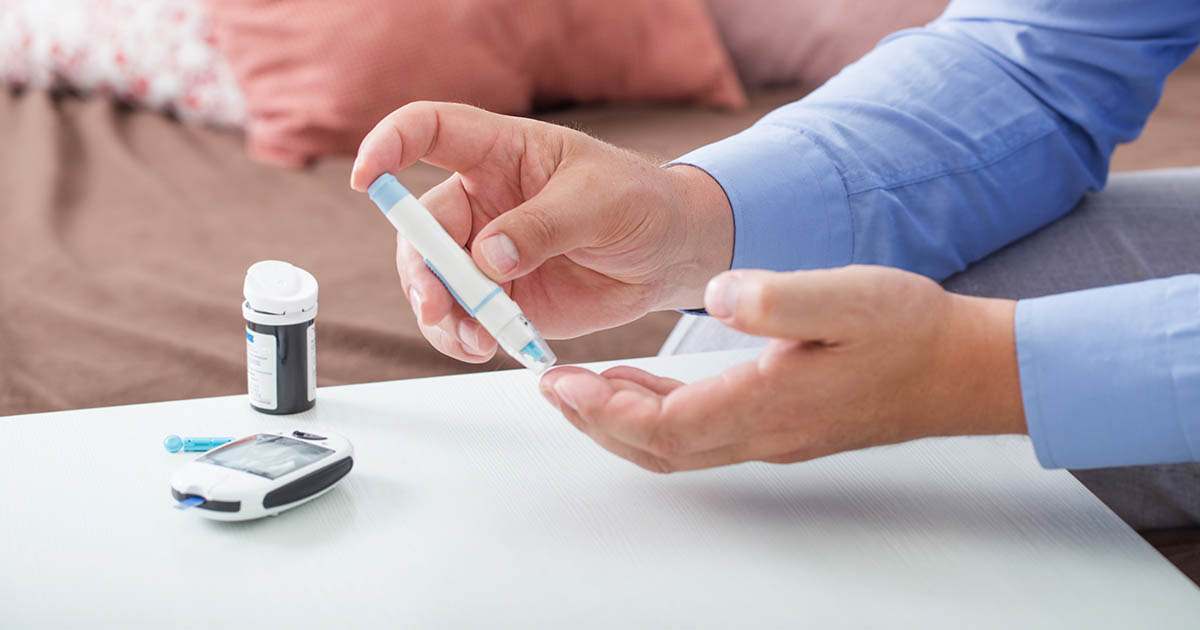 Blood glucose fingertip testing