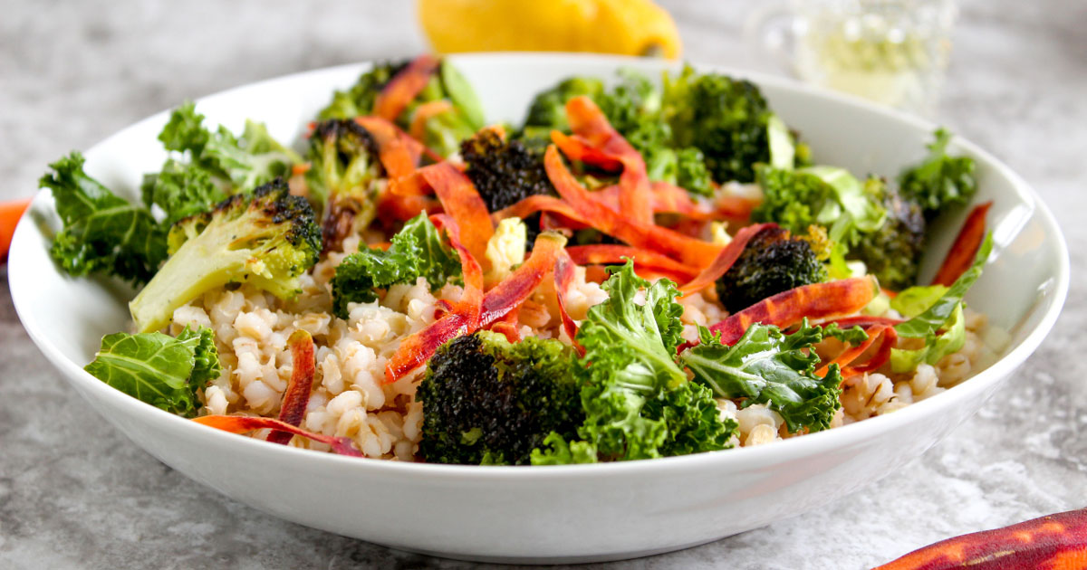 Roasted Broccoli and Barley Salad