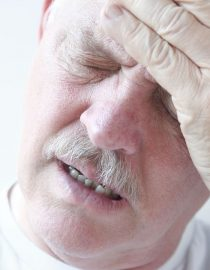 Man is experiencing dizziness