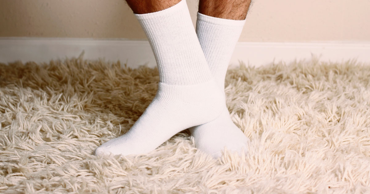 Person wearing socks