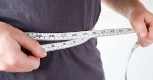 An individual is self-measuring themselves